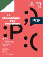 La Mécanique des émotions - rencontres Michel Foucault, Poitiers du 7 au 12 novembre 2017