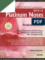 Platinum Notes - Anaesthesia