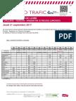 Axe j - Info Trafic Orleans-Vierzon-Argenton Sur Creuse (Limoges) Du 21 09 2017 v1