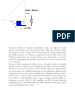 Characteristics of Schottky Diodes