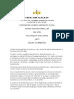 ANÁLISIS PELÍCULA Analisi y Diseño Curricular