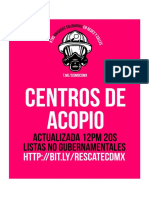 Brigadas Solidarias #19S - Centros de Acopio