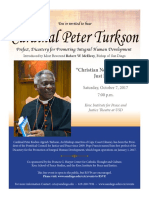 Poster for Cardinal Peter Turkson's Oct. 7 address at University of San Diego
