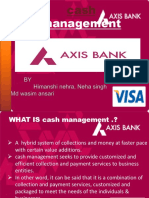Axix Bank Cash Mangement