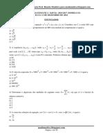 Prova de Matemática Espcex 2016-2017