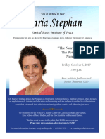 Poster for Maria Stephan's Oct. 6 lecture at University of San Diego