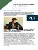 2017-09-18 Santiago Maldonado Cómo Desinforman Los Medios Oficialistas Entrevista a Martín Becerra