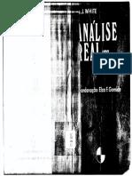 WHITE, A. J. Análise Real - Uma Introdução. 1973.