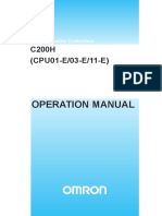 w130e105 c200h-Cpu01 Operation Manual
