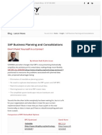 SAP Business Planning and Consolidations
