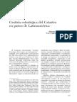 Gestion Estrategica Del Catastro en Paises de Latinoamerica