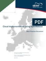 Cbp-39-Cloud Implementation Using Opennebula
