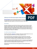 Welcome to the Microsoft Imagine Coding Club Starter Kit!