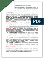 Resumen Principio de Le-Chatelier