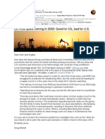 S.1460 Does Not Address the Likelihood of an Oil Price Spike Coming in 2020