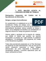 """2do-Informe de Trabajo- Manuel Ignacio """"Maloro"""" Acosta"""