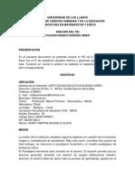 Analisis Pei Buenos Aires