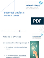 ITU Business Analysis PMI-PBA Course1