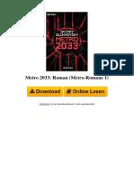 ⋙ Metro 2033- Roman (Metro-Romane 1)-B004OL2WHK
