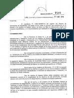 Resolucion Nº 736 - Loteos - Certificados de Estudios de impacto hídrico