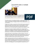 VILLALBA, Carlos . A Dissertação de Evo Morales Sobre a Verdade