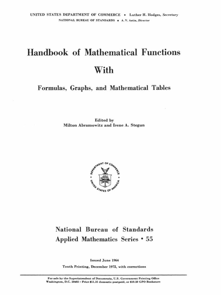 Handbook Of Mathematical Functions With Formulas M1 Abramowitz 22155 W Stereo Power Amplifier Circuit Based On Ba5417 Iastegunpdf Interpolation Fsica Y Matemticas