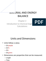 Material and Energy Balance Chapter 2 Spring Updated