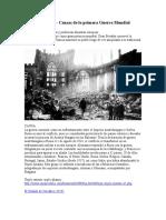 Guerra Mundial - Causas de La Primera Guerra Mundial