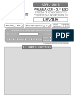 Cuadernillo Lengua 2015 CDI 3ESO
