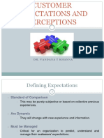 Customer Expectations and Perceptions