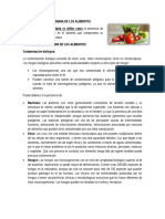 Contaminacion Microbiana de Alimentos