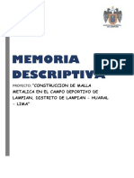 Memoria Descriptiva Lampian