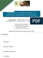 Modelagem da dinâmica de água e da resistência à penetração em solo arenoso