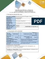 Guía de Actividades y Rúbrica de Evaluación - Paso 2 - Analizar Las Posturas y Enfoques Epistemológicos en Una Situación Problema