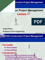 CE4250 CPM Lecture 1