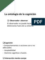La Ontología de La Cognición