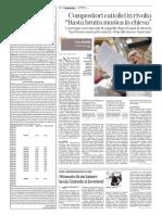 Compositori Liturgici - La Stampa 5 Settembre 2017