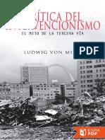 Critica Del Intervencionismo - Ludwig Von Mises