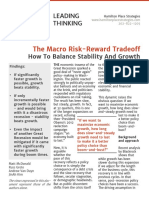 The Macro Risk-Reward Tradeoff