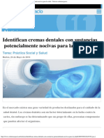 Identifican Cremas Dentales Con Sustancias Potencialmente Nocivas Para La Salud