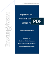F&M Poll Release September 2017