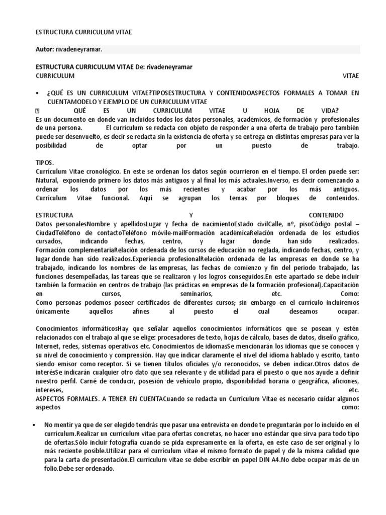 estructura curriculum vitaedocx