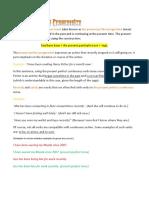 Present Perfect Progressive With Work Sheet