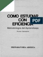 Cómo estudiar con eficacia - Metodología del Aprendizaje