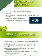 Lesson 1 Nature of Economics