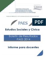 Boletín de Resultados PAES 2014