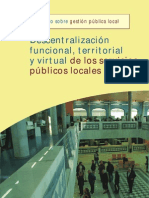 Descentralización, funcional, territorial y virtual