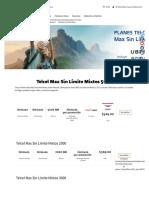 Telcel Max Sin Límite Mixtos | Tarifas y opciones