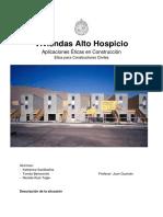 Análisis Vivienda Alto Hospicio- Aplicaciones Éticas en Construcción