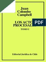 Colombo Cambell, Juan Los Actos Procesales Tomo Color